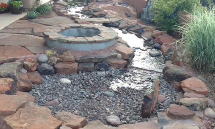 Sedona custom water feature landscape design