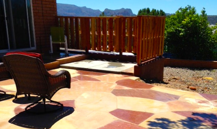Sedona Flagstone Patio Pavers Design