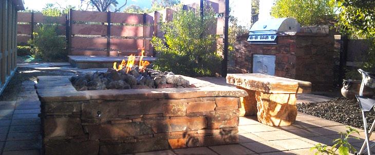 sedona-firepit-stonework-fireplace-desertscape